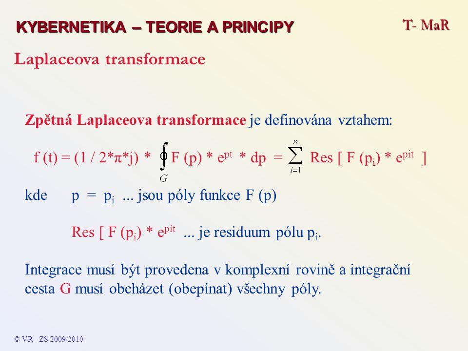f (t) = (1 / 2*π*j) * F (p) * ept * dp = Res [ F (pi) * epit ]